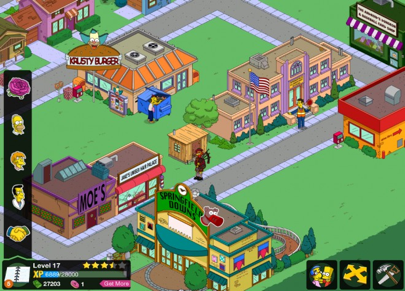 Gotta love that Krusty Burger is right next to Springfield Elementary! Damn you healthy School Lunch program!