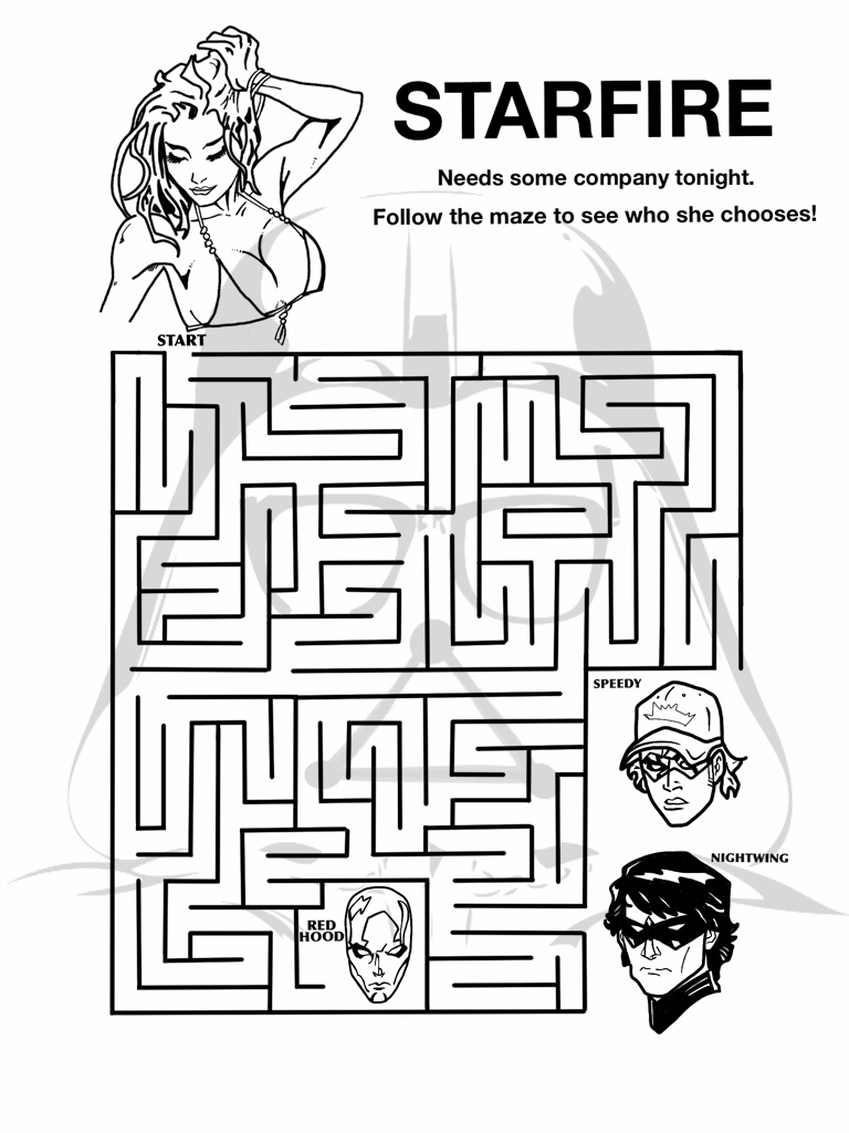 New 52 coloring corner kori and r friends the for Geek coloring pages