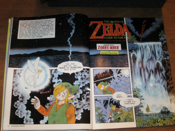 This was something I had completely forgotten about, there were ongoing comics in every issue of Nintendo Power.  This is from the Link to the Past comic.