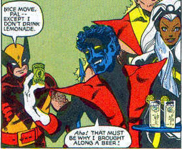Wolverine and Nightcrawler Beer Can