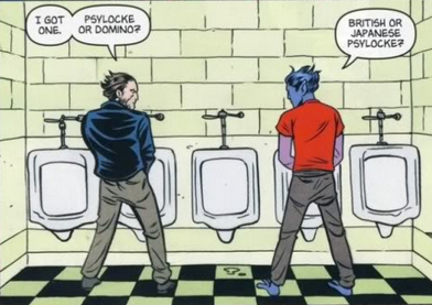 Wolverine and Nightcrawler Urinal