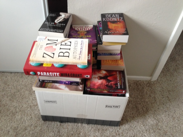 Exhibit B: My box of books to read...