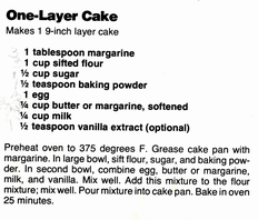 One Layer Cake