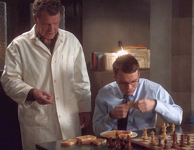 Walter and Lincoln (aka Kennedy to Walter) are perfect chess partners.